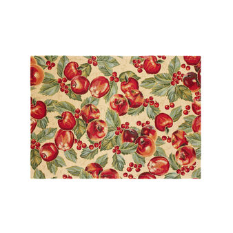 Gobelin table mat with Apples pattern