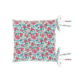 Cuscino sedia in cotone stampa fiorata