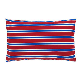 Route 66 cotton percale striped pattern pillowcase