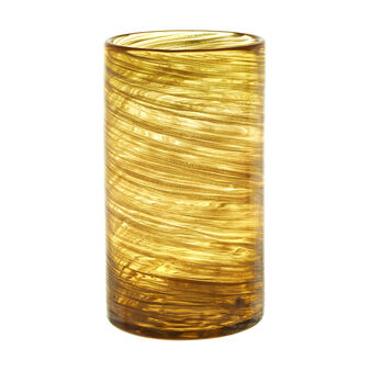 Glass vase with bronze inserts