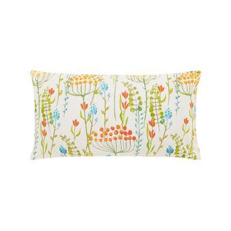 Cuscino rettangolare cotone stampa floreale acquerello