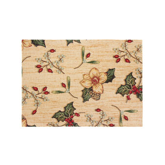 Table mat in gobelin with Berry pattern