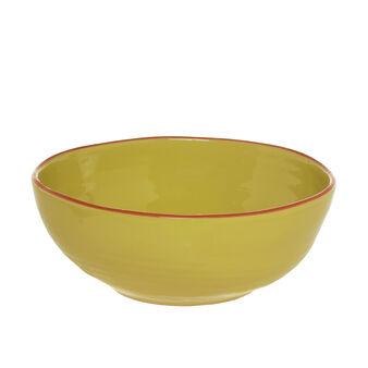 Portuguese ceramic salad bowl with edging
