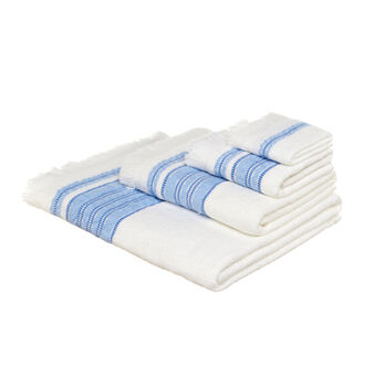 Terry towel with fringe trim