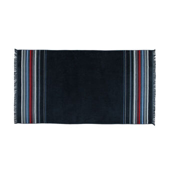 Striped jacquard beach towel in cotton terry