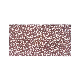 Cotton kitchen mat with leaves print