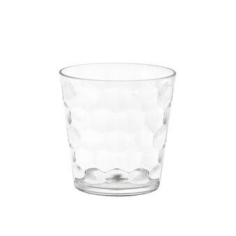 Bicchiere in plastica con lavorazione geometrica