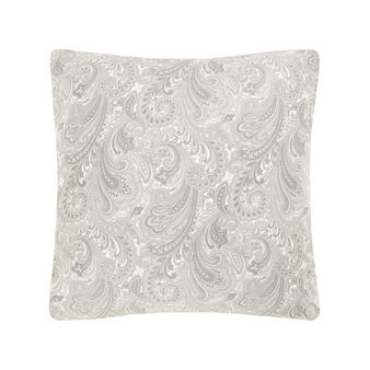 Paisley patterned pillow in cotton satin