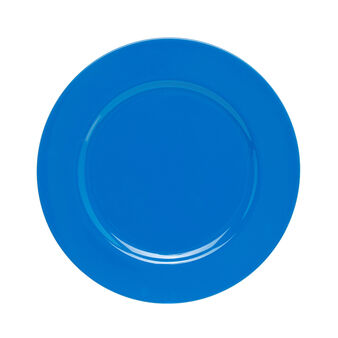 Charger plate in blue plastic