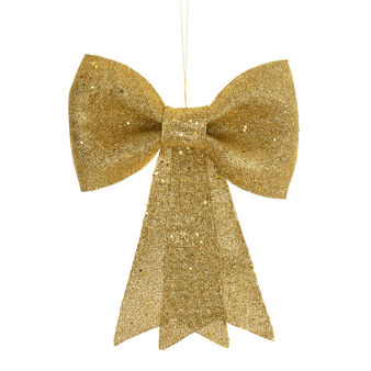Gold glitter decorative bow