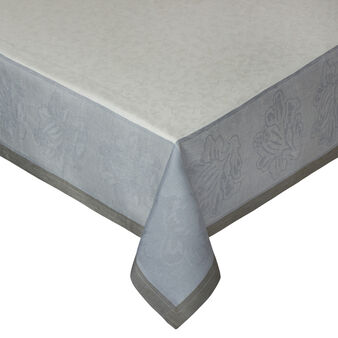 100% linen tablecloth with jacquard design.