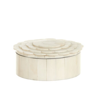 Handmade round bone box