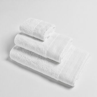 100% cotton towel with decorated jacquard edging