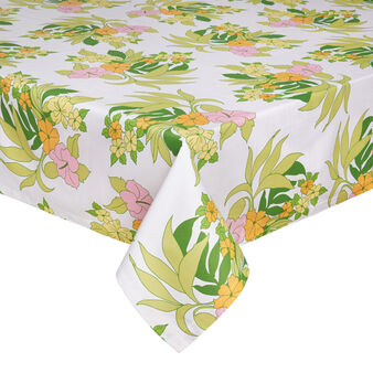 Floral cotton table cloth