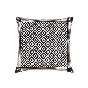 Cotton cushion with two-tone print