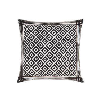 Cuscino cotone stampa bicolore