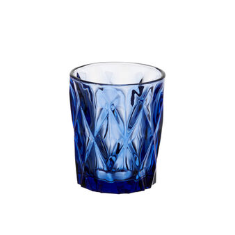 Diamond coloured glass water tumbler