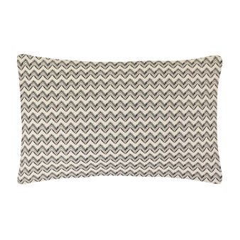 Zig zag patterned pillowcase in 100% cotton percale