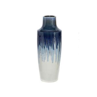Vaso in ceramica effetto dripping dipinto a mano
