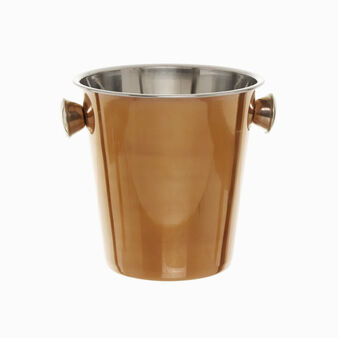 Large ice bucket in copper