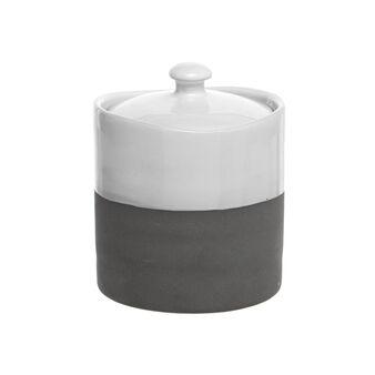 Two-tone porcelain sugar bowl