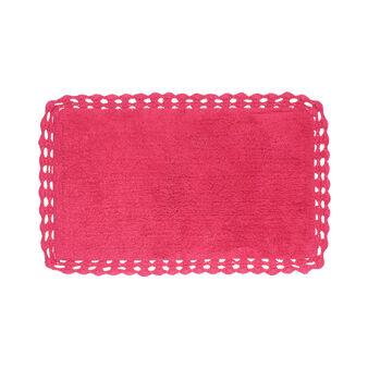 Tappeto bagno spugna cotone con bordo crochet