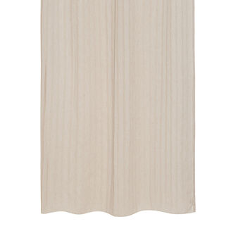 Linen blend curtain with jacquard stripes