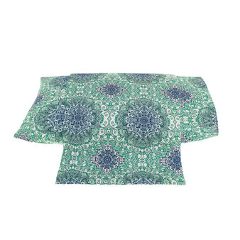 Duvet cover in percale with mandala print