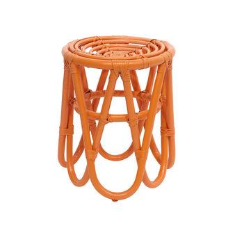 Sgabello rattan gambe geometriche