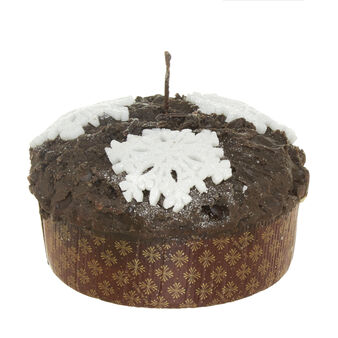 Panettone candle with snowflakes