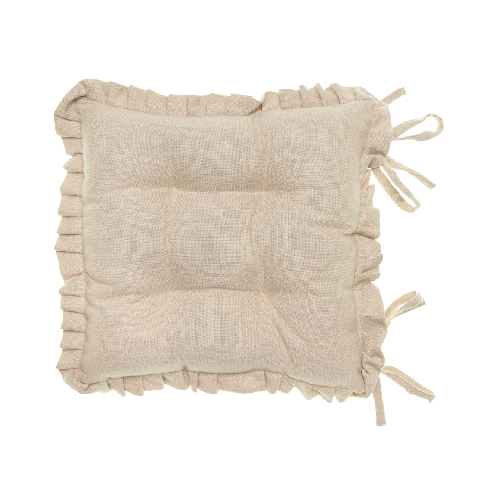cuscini con volant per sedie: cuscino sedia con volant morbidone