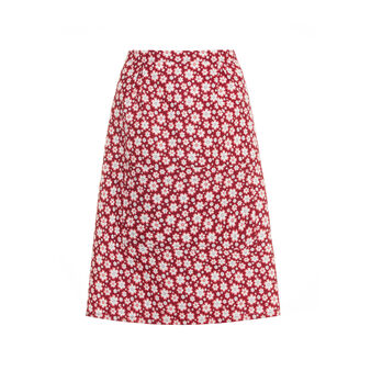 Apron in 100% cotton with small flowers print