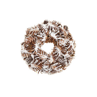 Wreath with snow-covered pine cones, D 23 cm