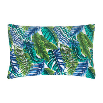 Tropical leaves pillowcase in 100% cotton percale