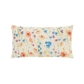 Cuscino rettangolare cotone stampa fiori di prato