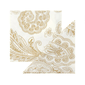 Set of two 100% cotton napkins with Paisley print