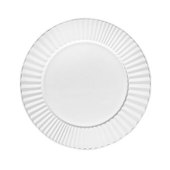 Set two charger plates with folded decoration