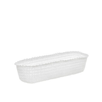 Crocheted rectangular basket in 100% cotton