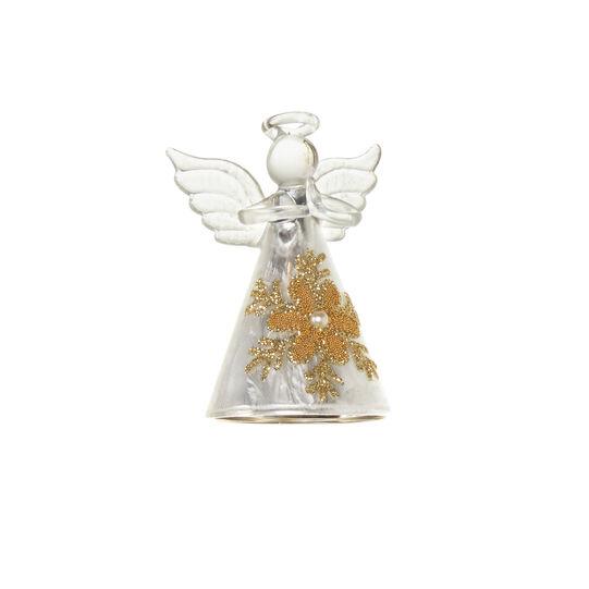 Addobbo angioletto in vetro H 8cm