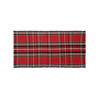 Kitchen mat with tartan pattern