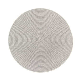 Round table mat in cotton blend