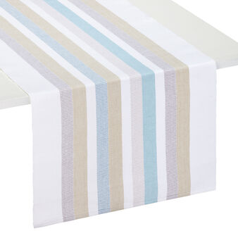 Ribbed table runner in 100% cotton