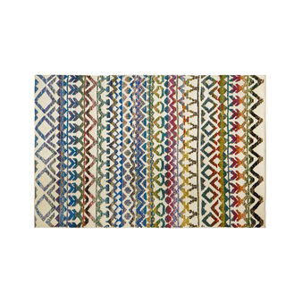 Hand-knotted rug in wool blend