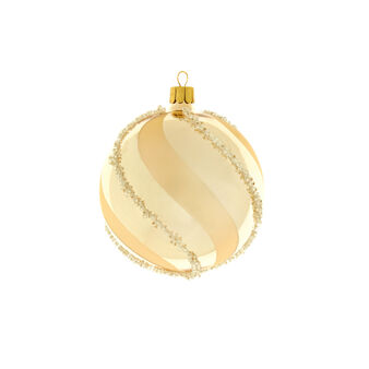 Gold glass bauble with grains D 8cm