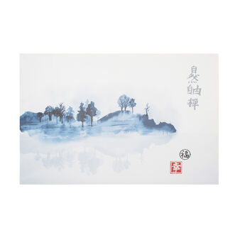 Japanese island canvas print