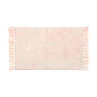 Tappeto bagno in cotone con frange