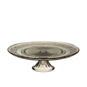 Brown glass cake stand