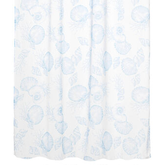 Shells print curtain