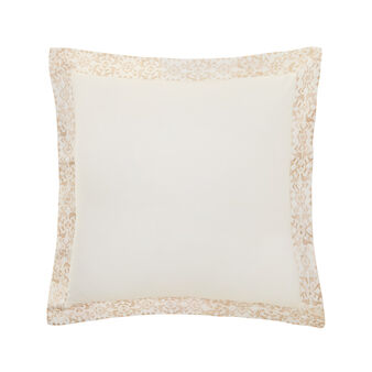Cushion in percale with gold embroidery