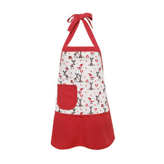 Girl's cotton apron with Christmas prints.